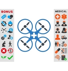Medical Drone Icon vector image