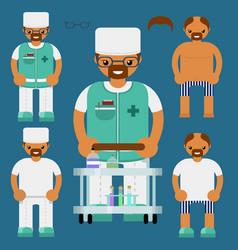 medical personalflat characters kit vector image