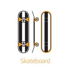 modern long board desk icons in outline vector image