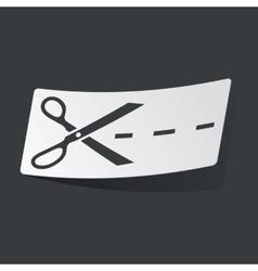 Monochrome cut sticker vector