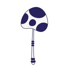 mushroom botanical nature organic icon design line vector image