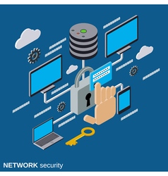 Network security data protection concept vector