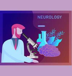 Neurology genetics concept flat style little vector