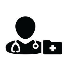 nurse icon male person profile avatar symbol sign vector image