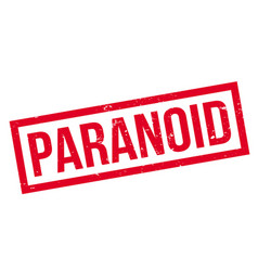 Paranoid rubber stamp vector