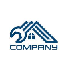 real estate and wrench logo vector image