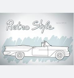 Retro car cabriolet draw vector