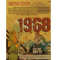 Retro grunge poster vector
