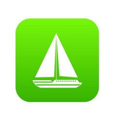 sea yacht icon digital green vector image