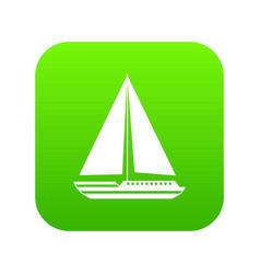 sea yacht icon digital green vector image