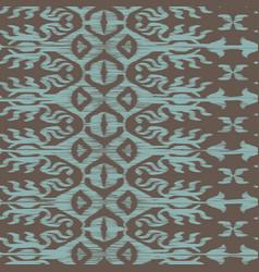 seamless ikat pattern turquiose vector image