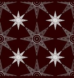 Seamless pattern with sumerian star ishtar vector