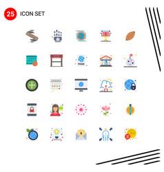 Set 25 flat colors on grid for afl directors vector