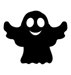 Silhouette ghost Halloween party vector