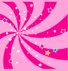 stars pink background vector image