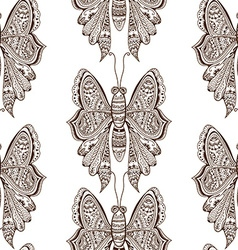 Stylized brown Butterfly vector