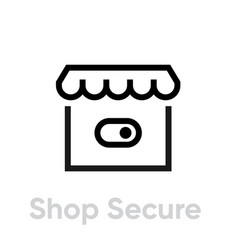 switch shop secure security icon editable line vector image