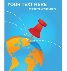 travel world poster vector image