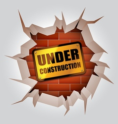 Under construction concept vector