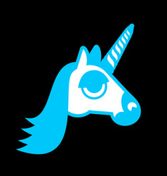unicorn head isolated fabulous beast in horn vector image