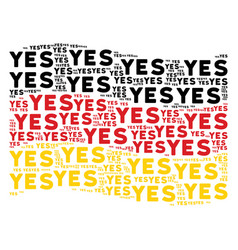 waving german flag pattern of yes text items vector image