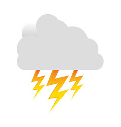 white cloud ray icon vector image