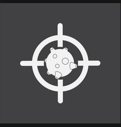 White icon on black background satellite at vector