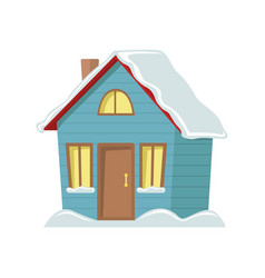 winter country house isolated christmas season vector image