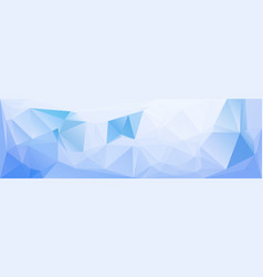 blue low polygonal texture header template vector image vector image