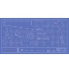 Blueprint instruments vector image vector image