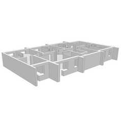 Building plan on white vector