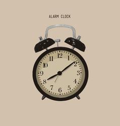 cartoon retro alarm clock wake up clockxa vector image