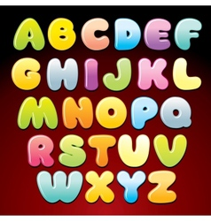 Colorful Candy Alphabet vector image vector image