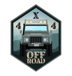 khaki offroad car truck 4x4 vector image vector image