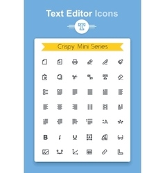 line text document editing application icon set vector image vector image