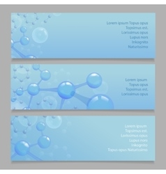 Molecular structure l banners with atom and vector image vector image