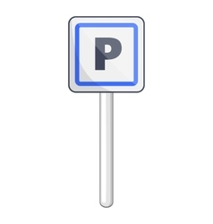 Parking sign icon cartoon style vector image vector image