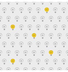 Seamless light bulbs beige pattern vector image vector image