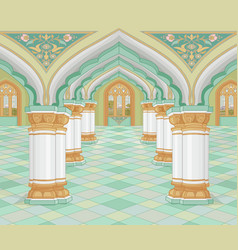 arabic palace vector image vector image
