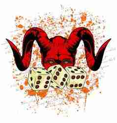 DEVIL DICE vector image
