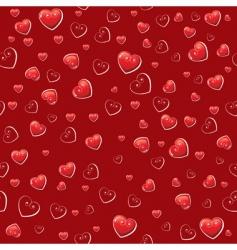 hearts wallpaper pattern vector image