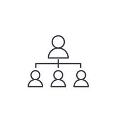 hierarchy thin line icon linear vector image vector image