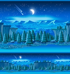 picturesque valley at night vector image vector image