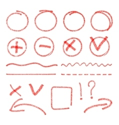red highlight elements Circles arrows vector image