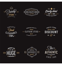 Retro Typography Abstract Discount and Sale Label vector image