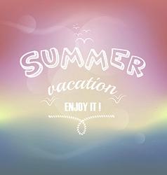 summer escape vector image