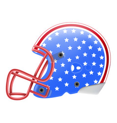 blue american football helmet with stars side view vector image vector image