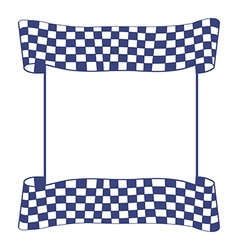 Blue checkered flag vector image vector image
