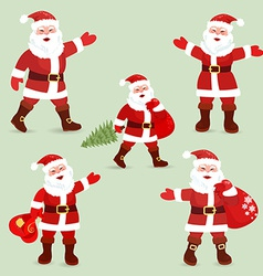 Collection of cute Santa Clauses for your design vector image vector image