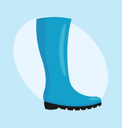 fashion female blue boots isolated casual foot vector image vector image